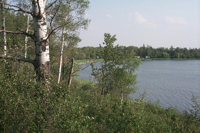 The southeast part of the lake.
