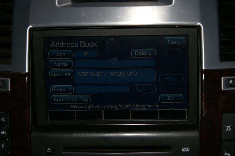 OnStar screen