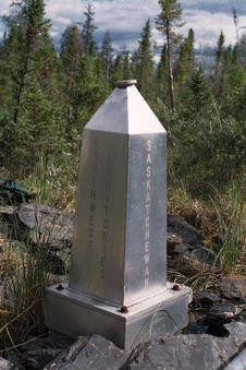 #1: MB-NT-NU-SK Boundary Monument