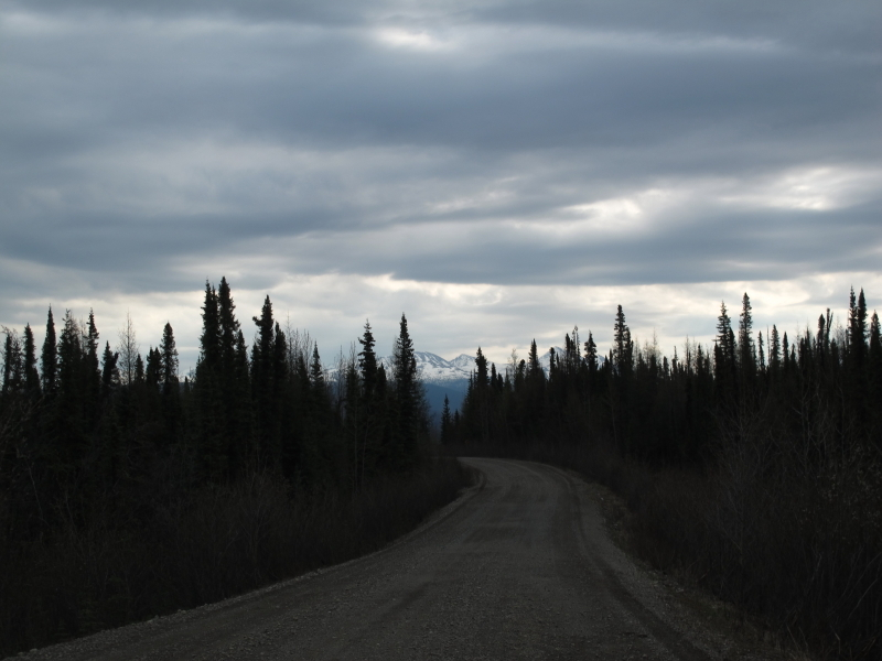 Nahanni Range Road near the starting point