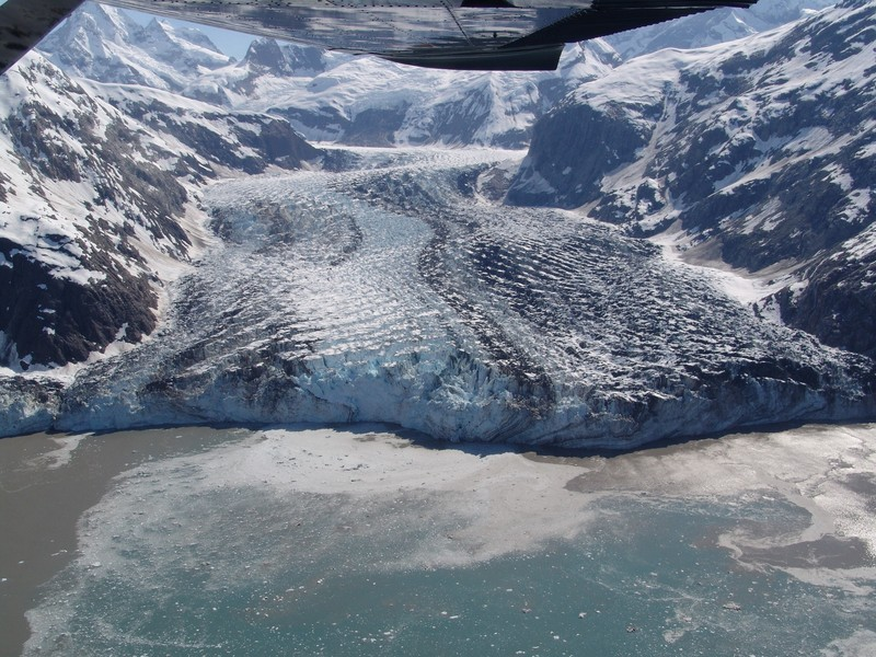 Nordarm-Gletscher - North arm of the glacier