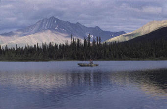 #1: On Fuller Lake, target point at 15 kilometres distance