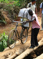 #10: One of the bikes carrying school equipment to be sold in Mokambo
