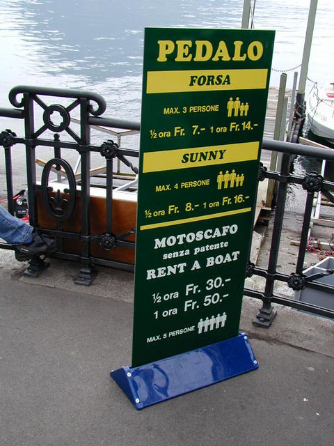 boat rental in Lugano