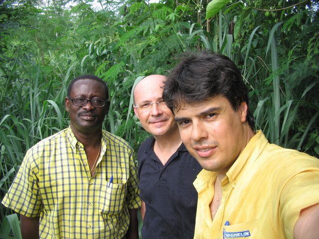 The team: from left Mr Echimane, Eric Cavaloc, Cassio Scomparin