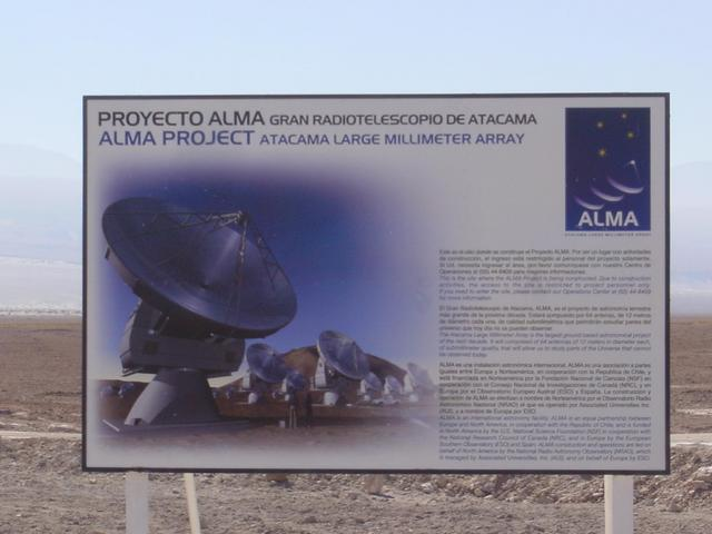 ALMA project sign