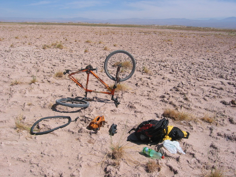 Flat Tire in the Desert