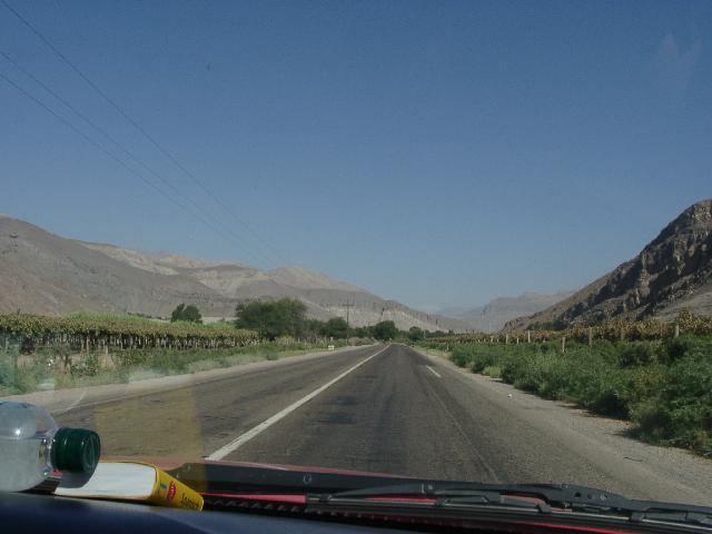 Driving up the Copiapo valley