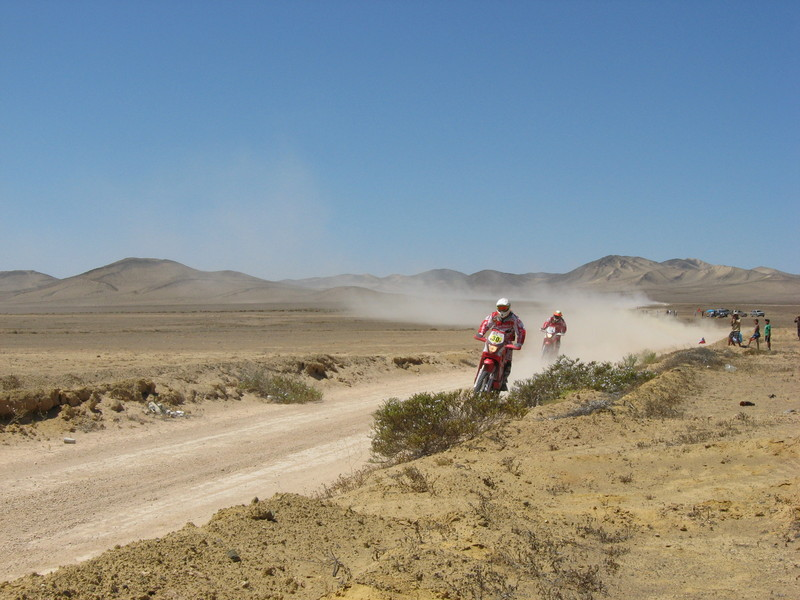 The Dakar rally - bikes.