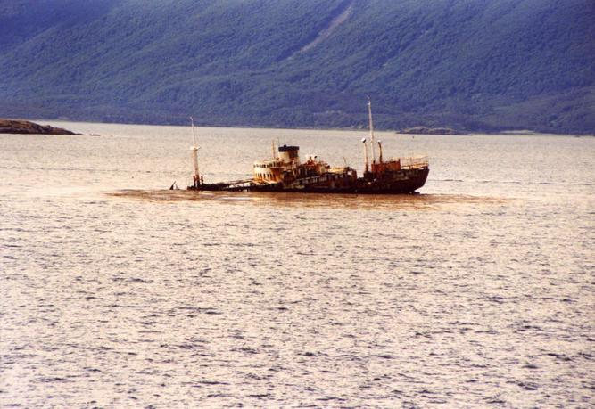 Wreck in Beagle Channel