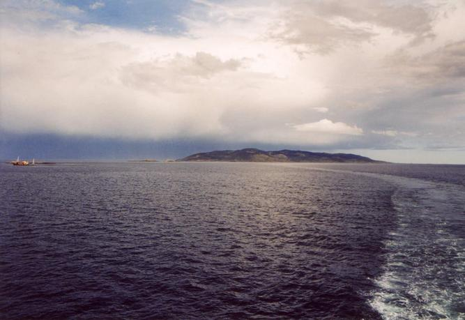 Picton Island with CP on it, seen from the Beagle Channel