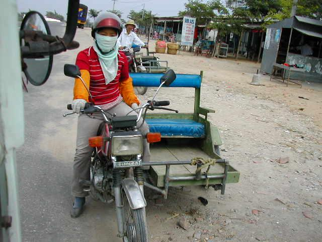 Moto-tricycle driver