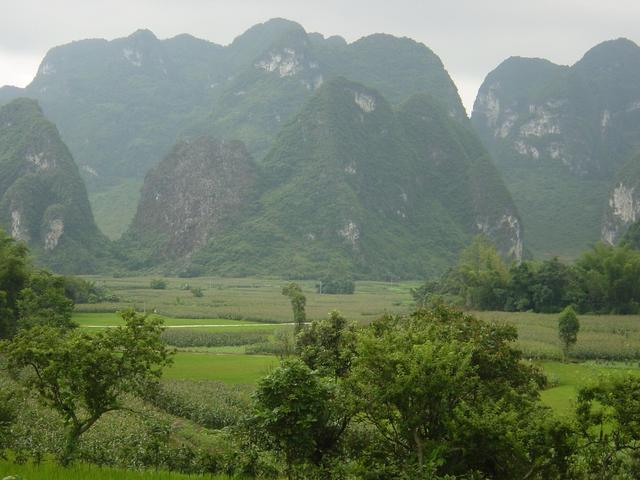Exquisite karst landscape around the confluence