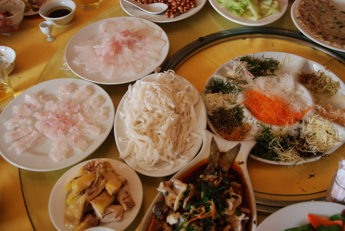 The special raw lunch at Heng County