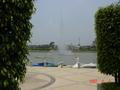 #2: Fountain in the middle of the lake, and boats moored at Fisherman's Wharf
