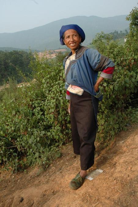 A Yi minority woman in the village