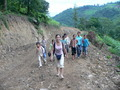 #10: Ah Feng and our entourage of schoolchildren on the way back to Dáyāng.