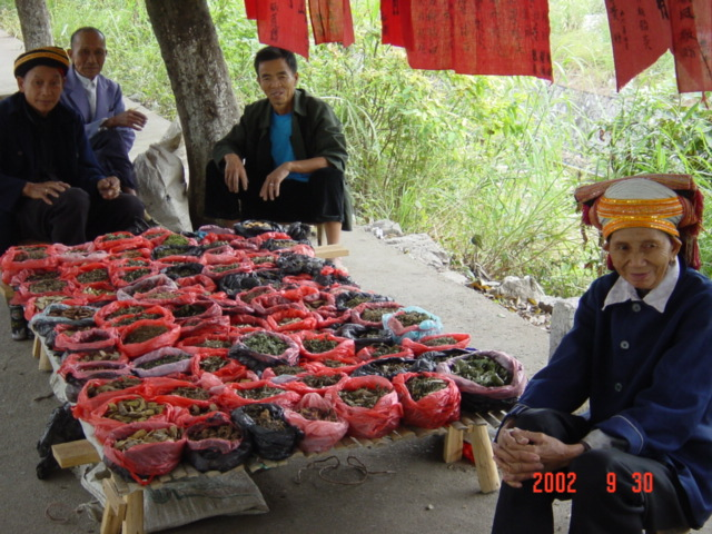 Roadside stall run by members of minority Yao Nationality.