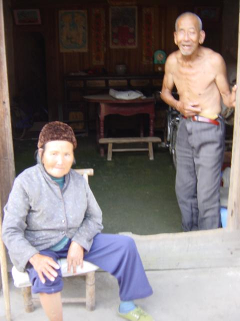 Old couple at house
