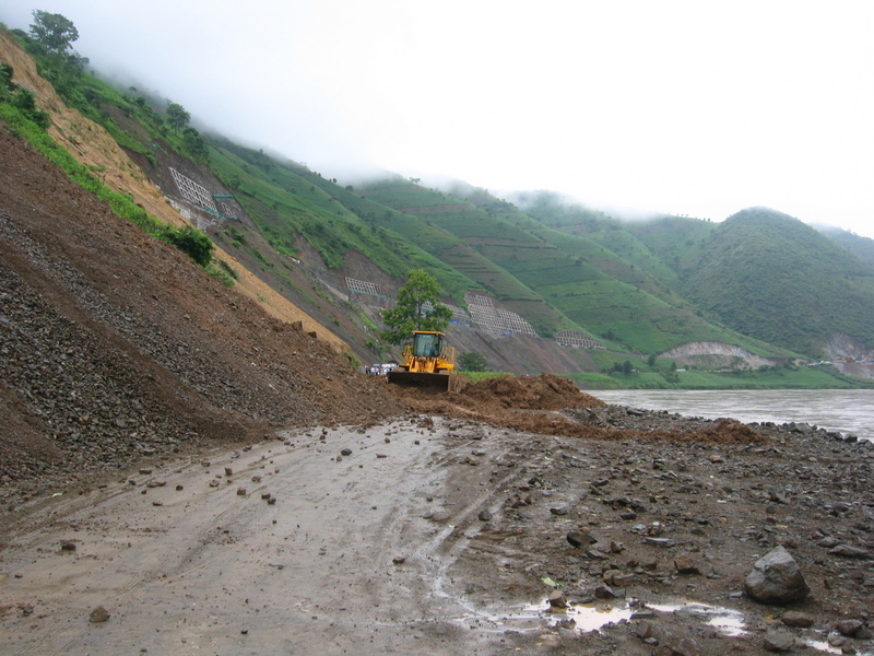 One of many Landslides after Heavy Rain