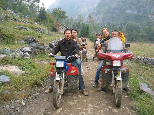 The Group on the Motor-Bikes