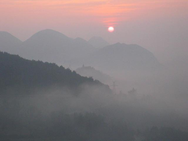 Sunrise near Shibing