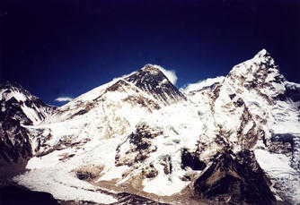 #1: Mt.Everest is in centre, confluence is just behind it.