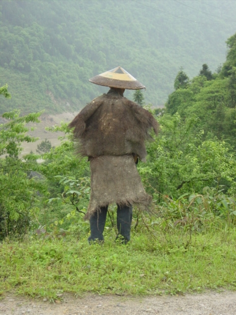 Typical wet weather gear for peasants