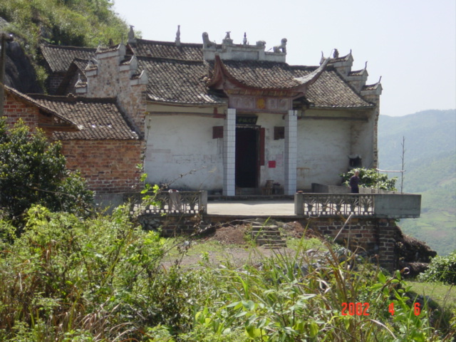 Temple on hillside