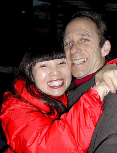 Peter and his wife, Xiaorong, in an excited reunion after returning from the six-visit Confluence Trip.
