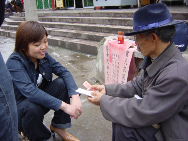 A roadside fortune-teller