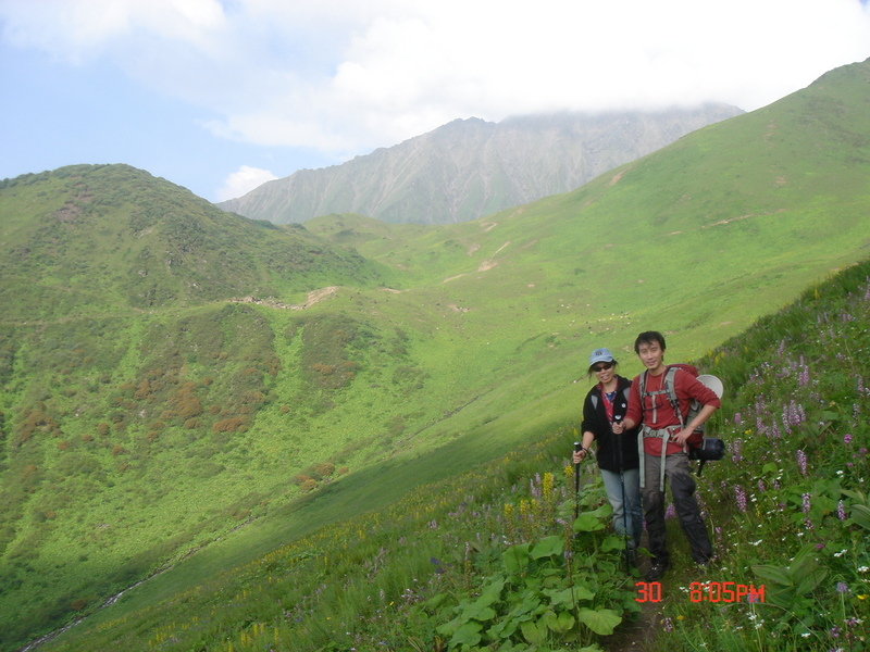 During the upper Part of the Hike through open Grassland