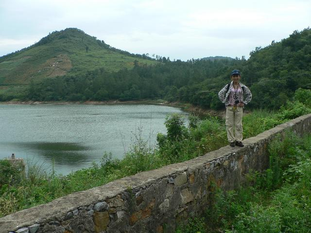 View across lake to confluence on hillside, 400 metres WSW.