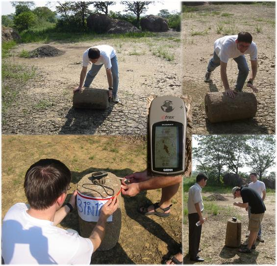Marking the spot with a threshing stone