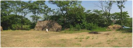 #1: Rice threshing floor as confluence area, north view