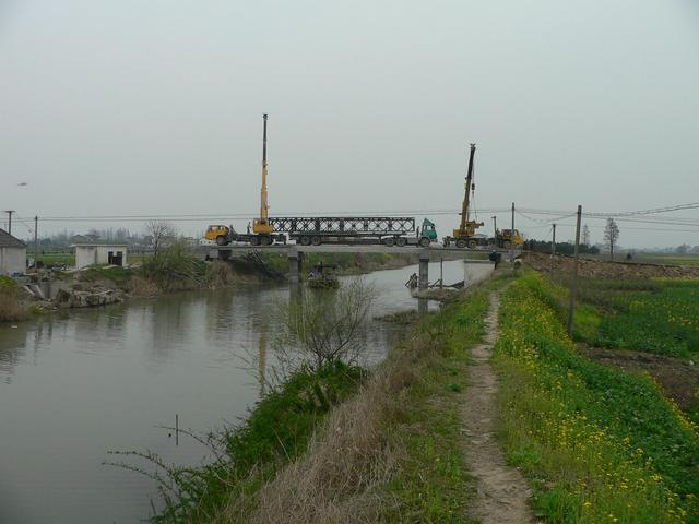 Another concrete bridge under construction