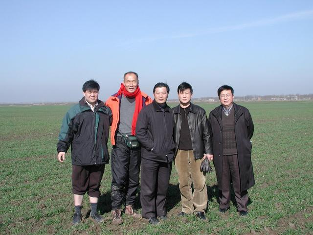 The hunting party – Michael on the left, Ray in orange, Dr. Wang from Hefei in the center and Dr. Wang of Lin Quan County
