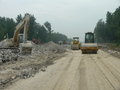 #4: Roadworks in progress, extending the road south past the confluence