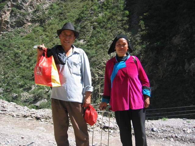 Tibetian Couple on Their Way to Jiabu