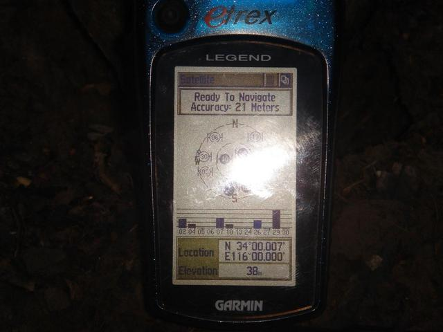 GPS reading at north shore of the pond - 25 meters from the all zeros