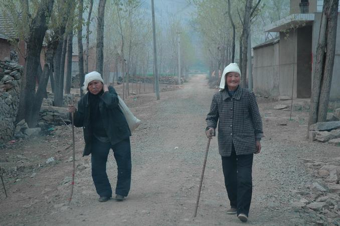Two ladies in a nearby village
