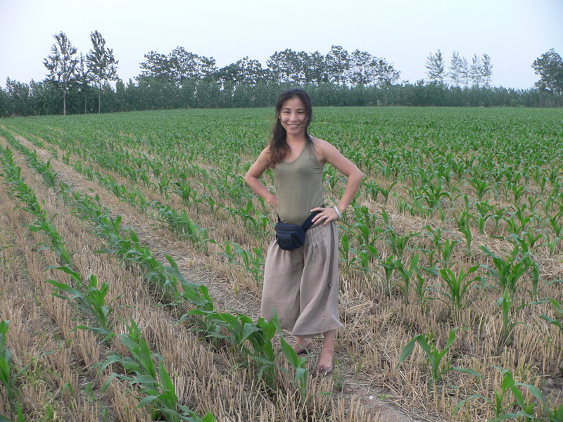 Ah Feng in the confluence cornfield