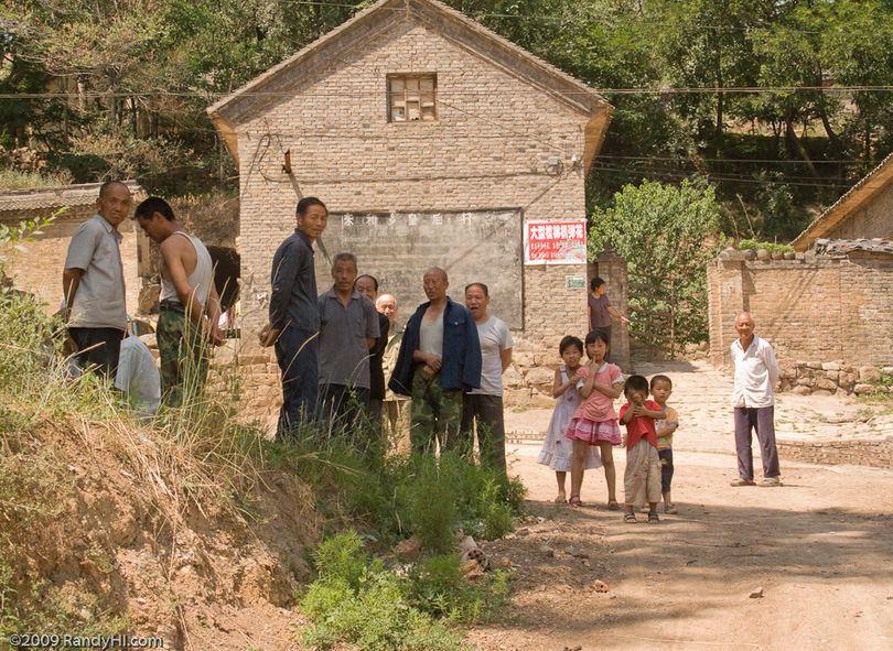 Some of the mountain farm villagers that came out to see the two suprise visitors from America