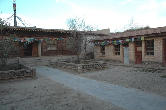 Dalai's birth place - The house on the right with the white door
