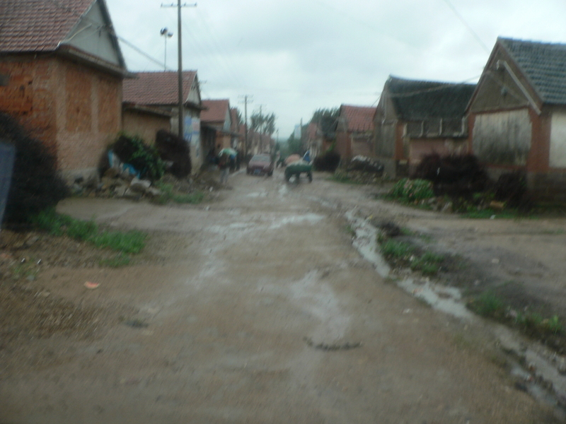 Main street of Xīcàiyuán Village, just south of the confluence