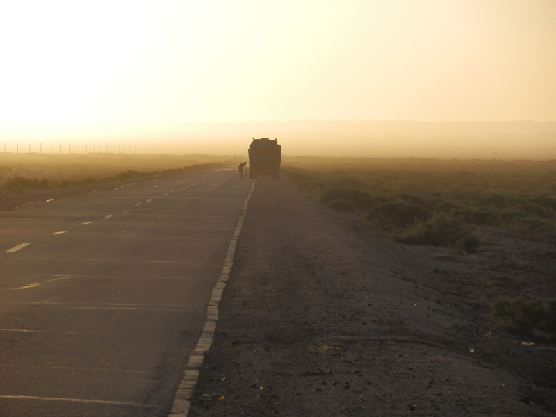 Morning on the Desert Road