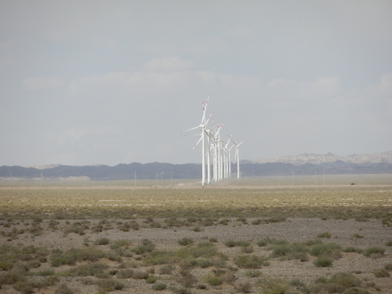 The Wind Park as seen from the Confluence