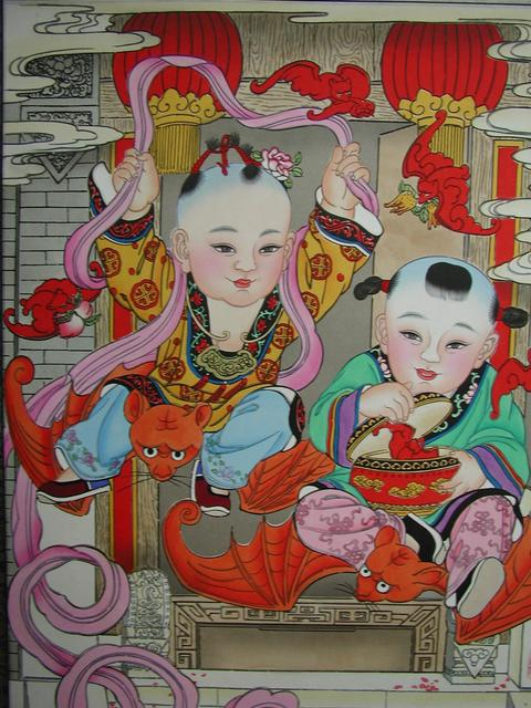 A new year painting from the Yang Liu Qing twon