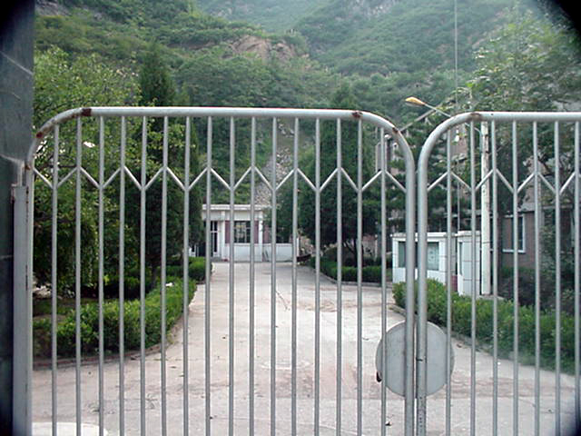 The Gate to the abandoned housing area