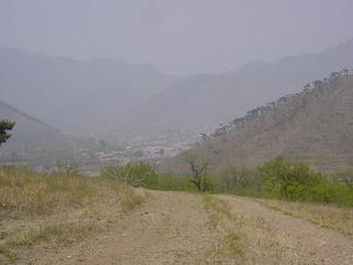 #1: The town of Tang-Yu in the valley below the waypoint, a couple kilometres off highway 112